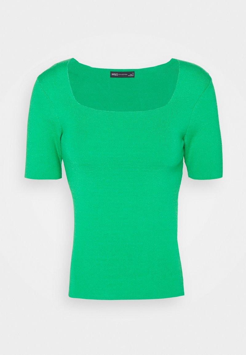Marks & Spencer London - SQUARE NECK - T-shirt basique - green
