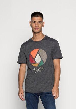 SPLICER - Print T-shirt - heather black