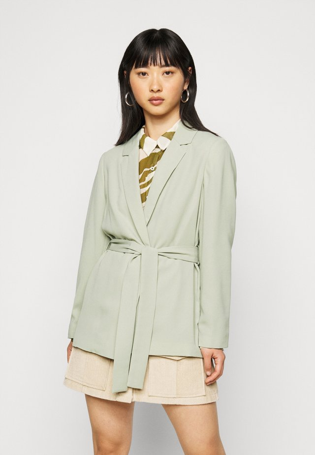 WASHED WRAP JACKET - Lett jakke - green