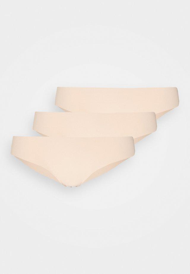 INVISIBLE BRASILIAN 3 PACK - Kalhotky - tan