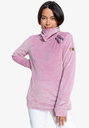 DELTINE - Fleece jumper - dawn pink