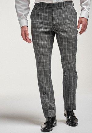 SLIM FIT - Suit trousers - mottled grey