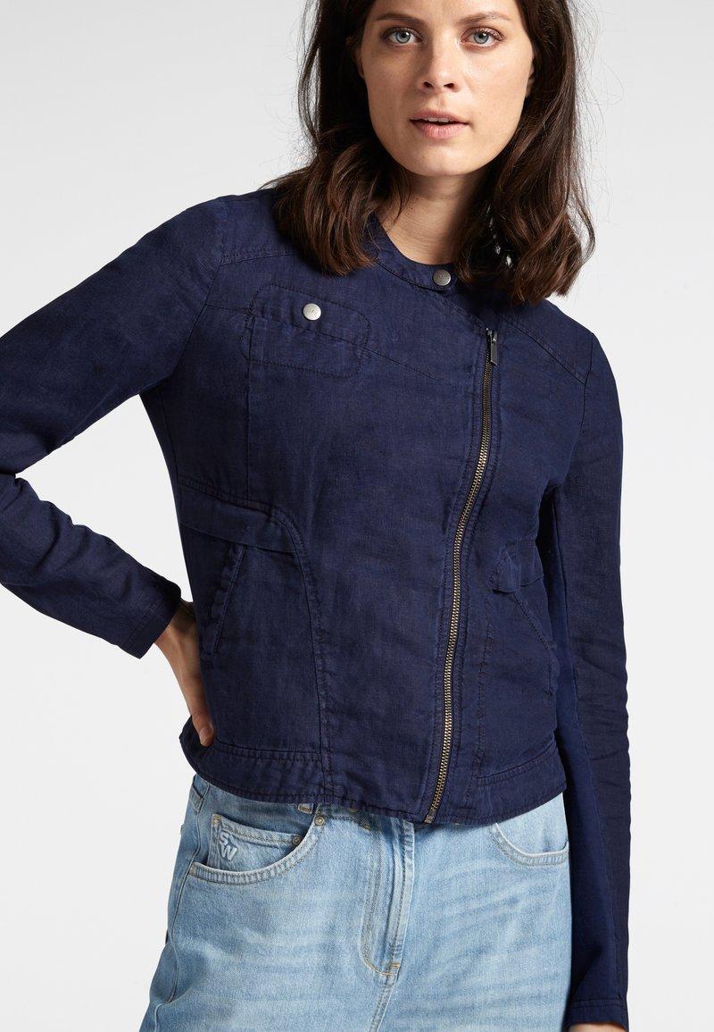 Sandwich - Faux leather jacket - blue