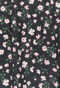 Anna Field - Maxi skirt - black/pink/red - 2