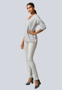 Alba Moda - Leather trousers - hellgrau - 3