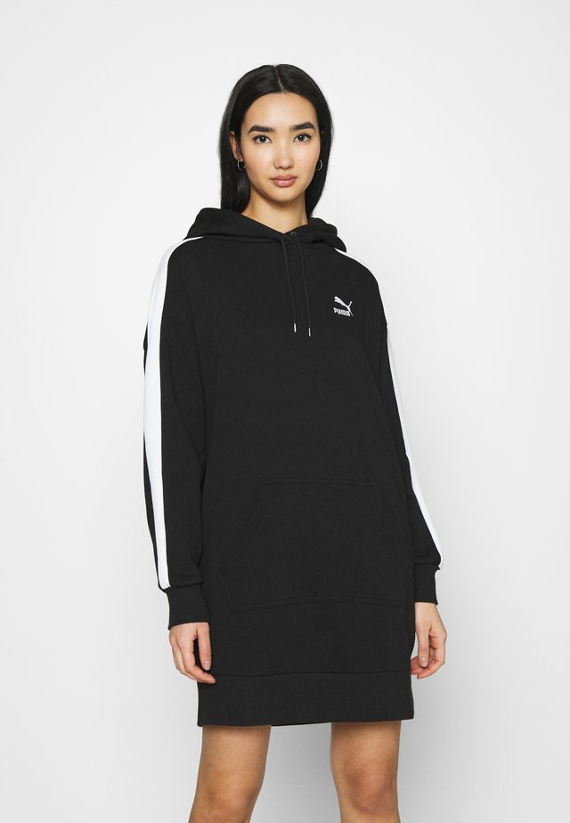 ICONIC HOODED DRESS - Sukienka letnia - black