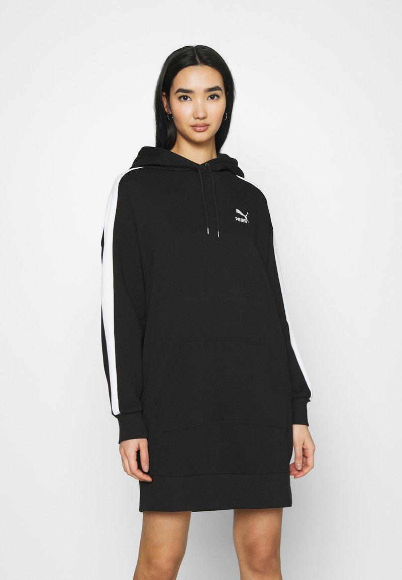 Puma - ICONIC HOODED DRESS - Day dress - black
