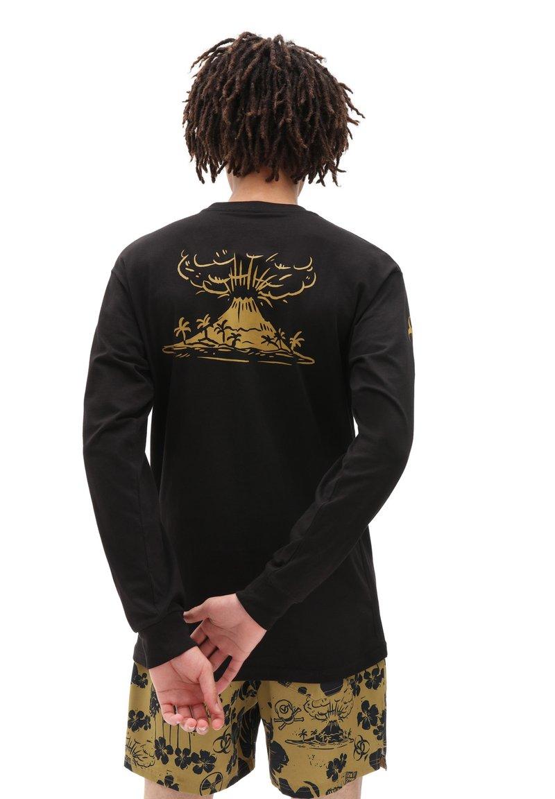 Vans - MN DARK TIKI LS - Long sleeved top - black