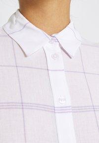 Weekday - URI SHIRT - Button-down blouse - whith/purple - 4