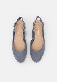 Marco Tozzi - Ankle strap ballet pumps - steel - 5