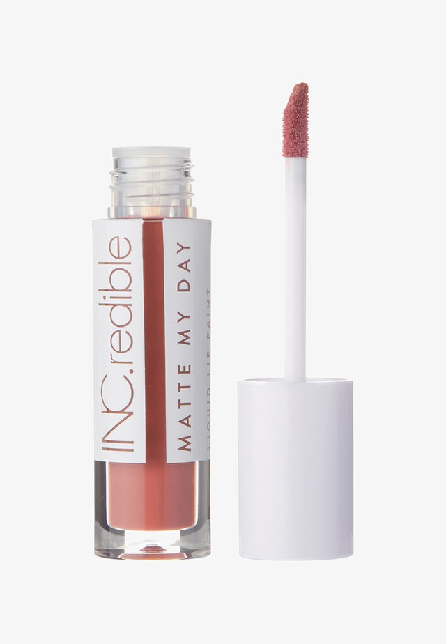 INC.REDIBLE MATTE MY DAY LIQUID LIPSTICK - Liquid lipstick - 10063 bolder and braver