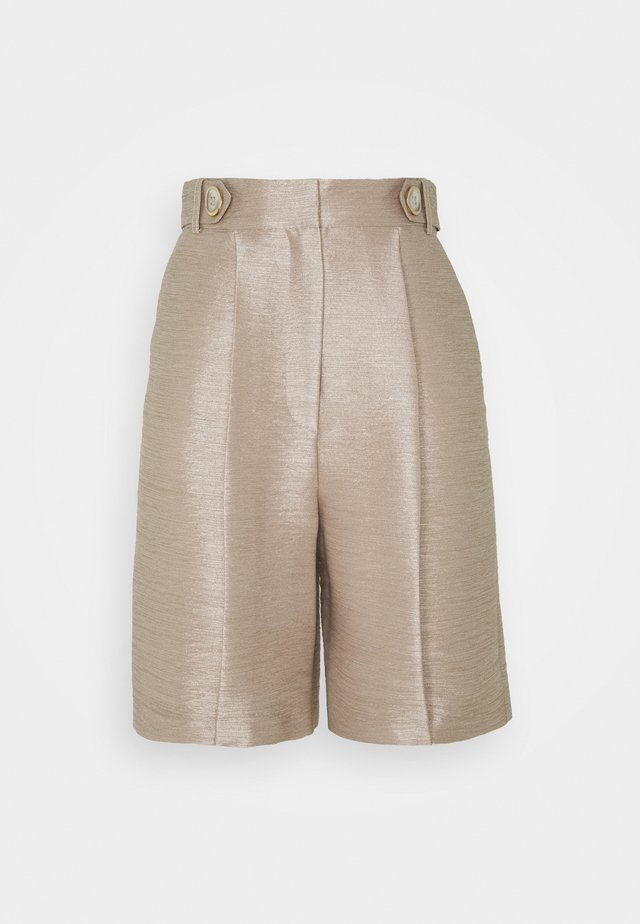 Shorts - putty metallic
