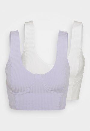 MOA SINGLET 2 PACK - Toppe - white solid/light purple