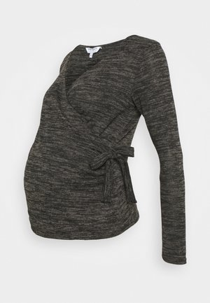 BRUSHED WRAP - Jumper - charcoal marl