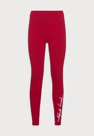 STRETCH SCRIPT  - Leggingsit - red
