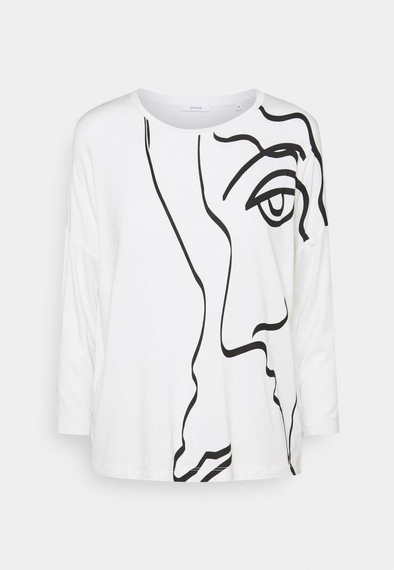 Opus - SICASO PRINT - Long sleeved top - milk