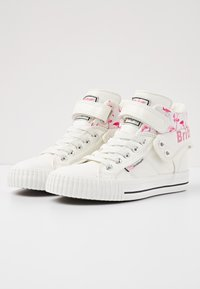British Knights - ROCO - High-top trainers - white/flamingo - 2