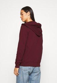 Hollister Co. - Zip-up hoodie - burgundy - 2