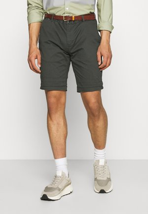 CHINO WITH BELT - Shorts - charcoal