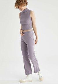 DeFacto - Tracksuit bottoms - purple - 1