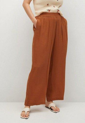 Trousers - orange brûlé