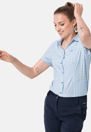 KEPLER - Button-down blouse - ice blue checks