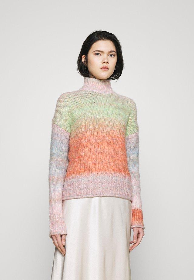 ONLGRACE HIGHNECK  - Jersey de punto - pink nectar/multicolor