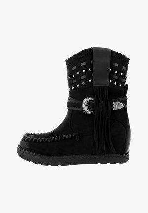 ALBANETO  - Kovbojské/motorkářské boty - black