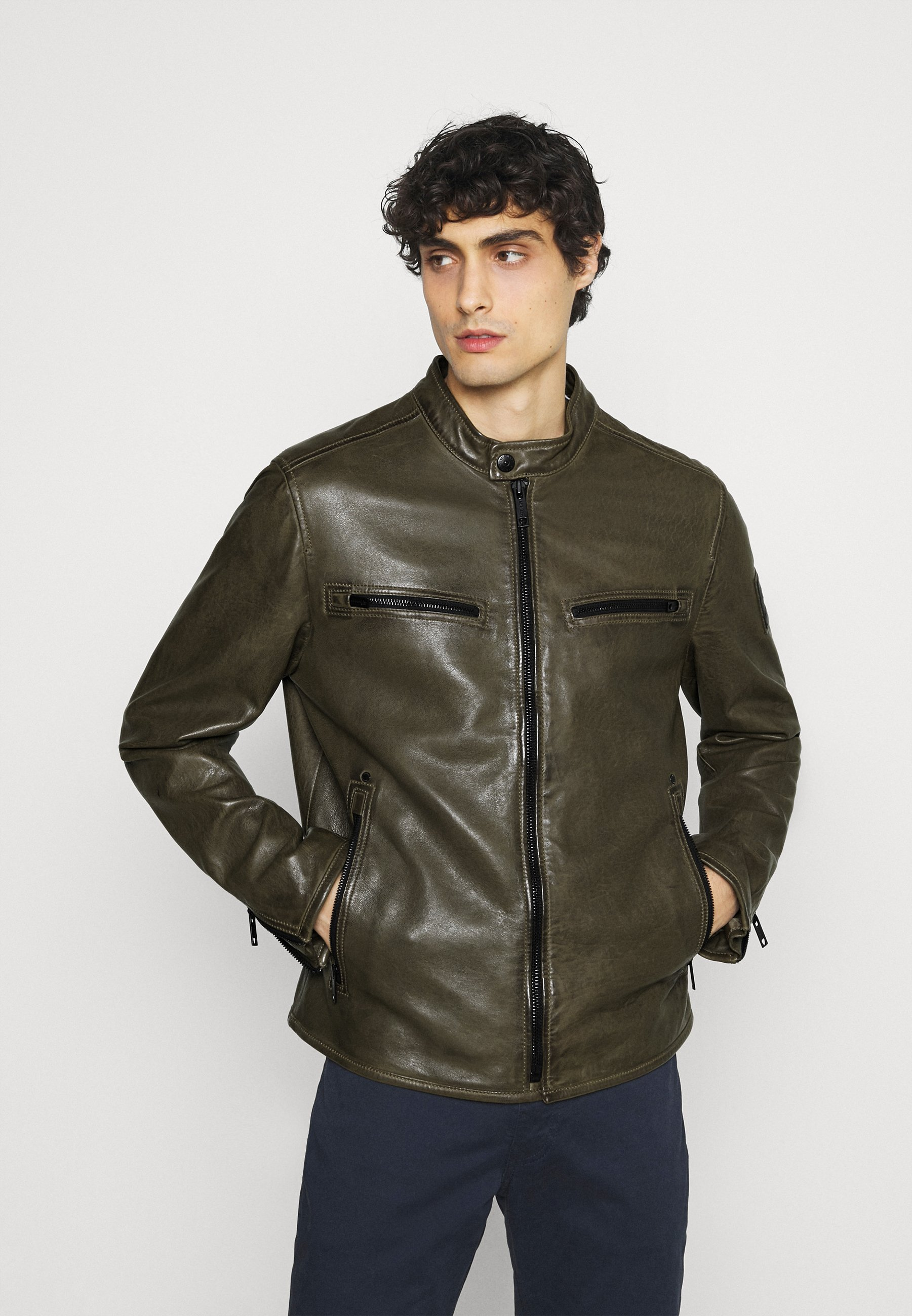 Homme NORWICH - Veste en cuir