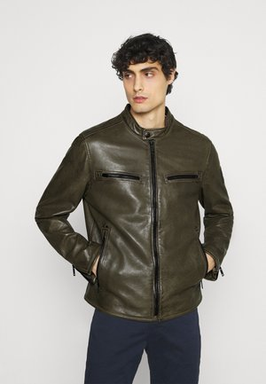 NORWICH - Leather jacket - dark brown