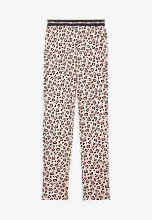 Pyjama bottoms - pastel pink animal print