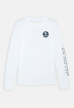 VINTAGE PRINT LOGO - Långärmad tröja - white
