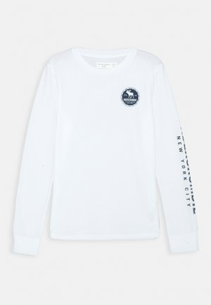 VINTAGE PRINT LOGO - Top sdlouhým rukávem - white