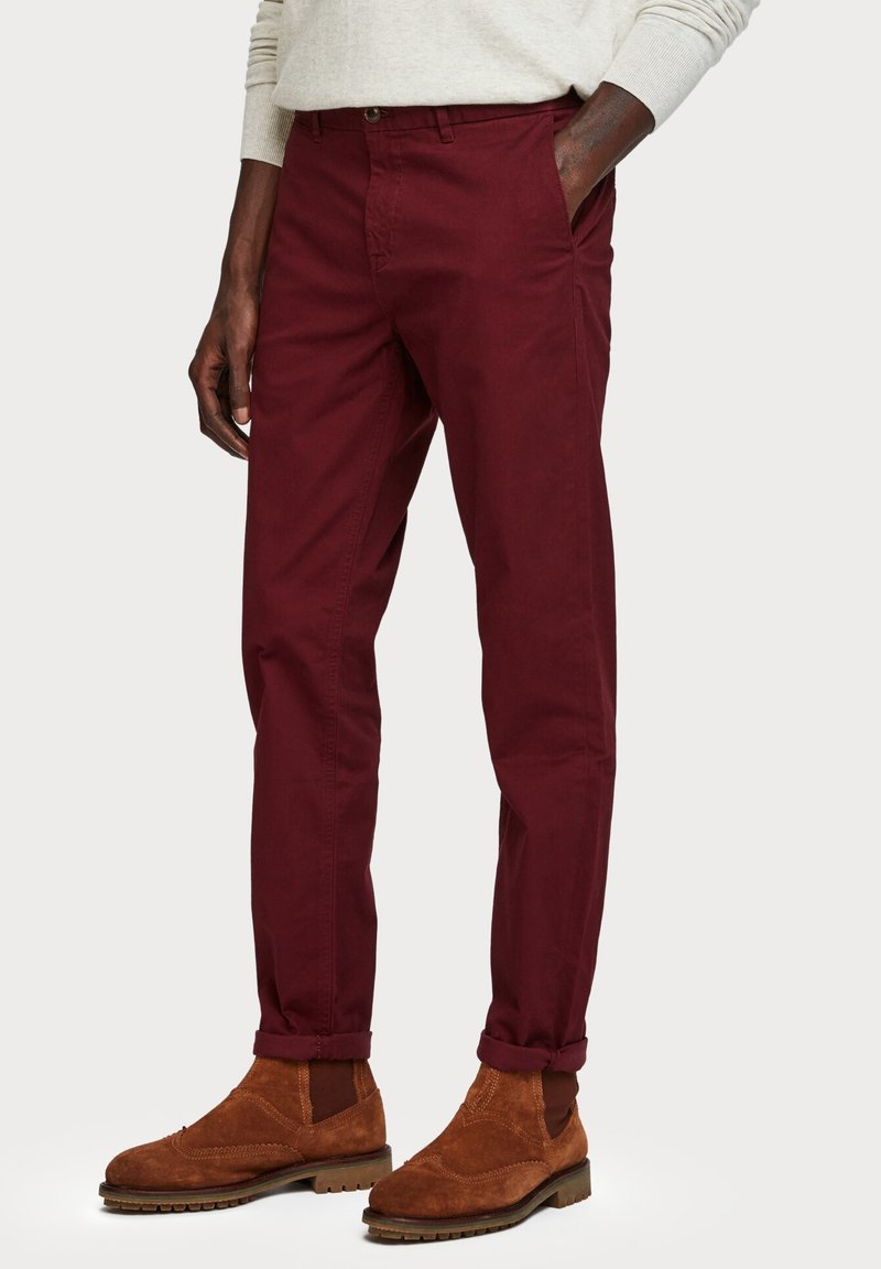 Scotch & Soda - MOTT CLASSIC SLIM FIT - Chino - bordeaux