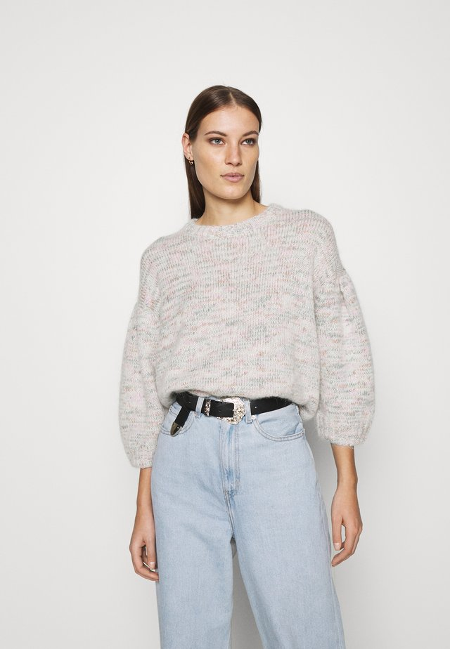Crew Neck Jumper - Trui - white light