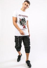 Ed Hardy - LA-WOLF T-SHIRT - Print T-shirt - white - 0