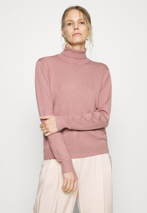AMMY ROLL NECK - Pullover - old rose
