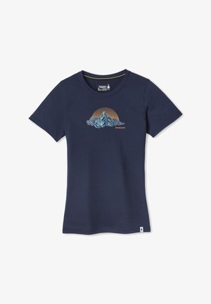 LIGHTWEIGHT SPORT 150 MT. RAINIER GRAPHIC TEE - Print T-shirt - deep navy