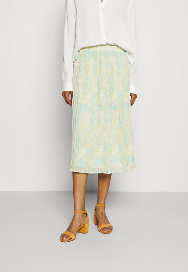 SLFGEORGIA PLISSE SKIRT  - Pleated skirt - young wheat