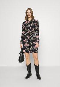 Pieces - PCPAOLA LS DRESS - Shirt dress - black - 1
