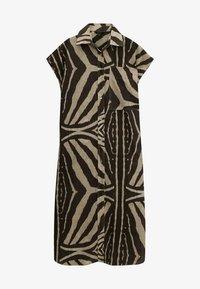 Massimo Dutti - MIT ZEBRAPRINT - Shirt dress - brown - 0