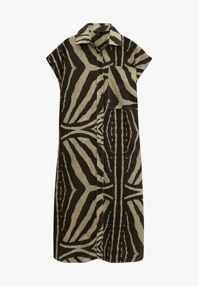 MIT ZEBRAPRINT - Shirt dress - brown
