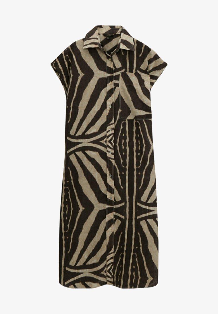 Massimo Dutti - MIT ZEBRAPRINT - Shirt dress - brown
