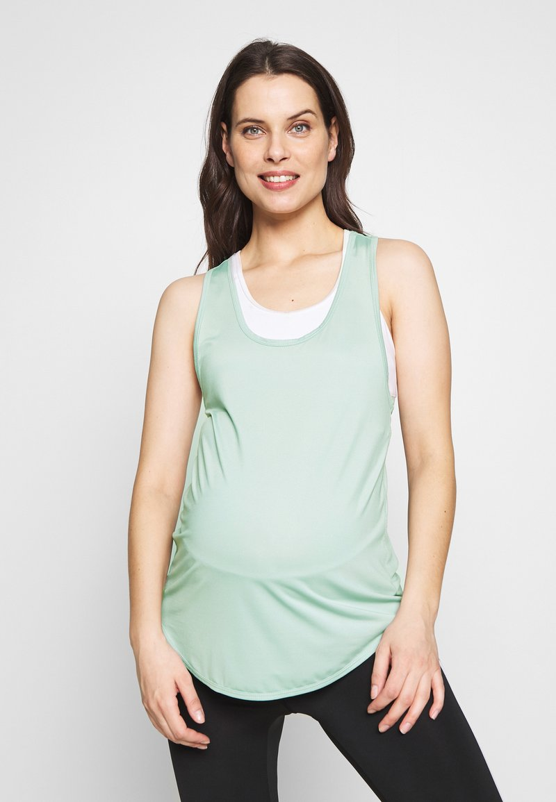 Cotton On Body - MATERNITY TRAINING TANK - Camiseta de deporte - washed aloe