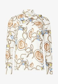BLOUSE WITH COLLAR - Košile - white