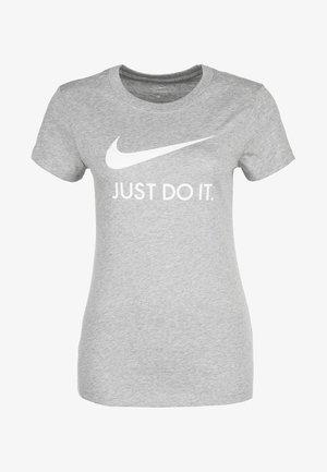 W NSW TEE JDI SLIM - Print T-shirt - dark grey heather/white