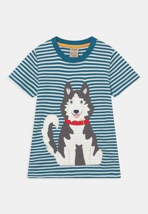APPLIQUE UNISEX - T-shirt med print - blue