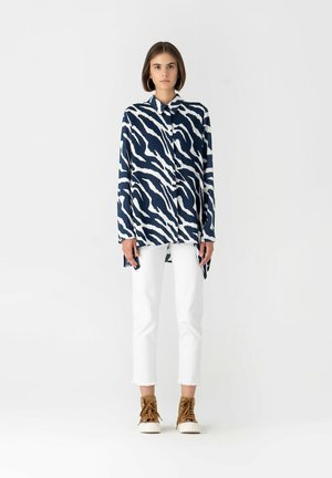 Button-down blouse - navyblue