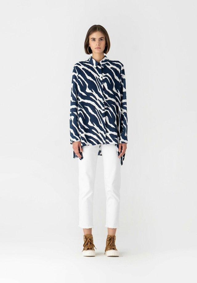 Button-down blouse - navyblue