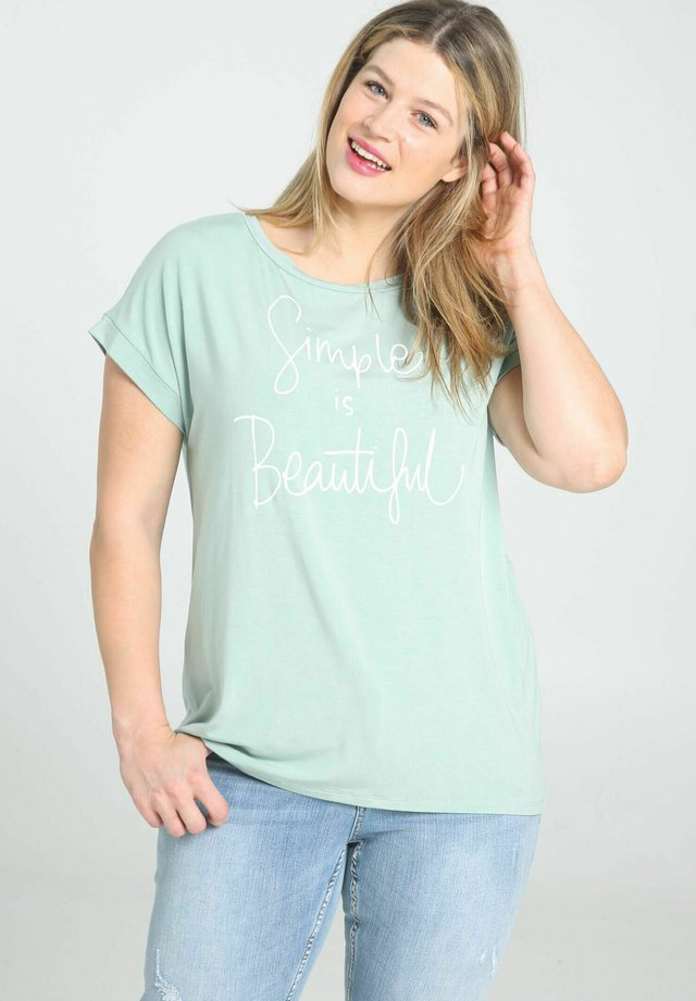 T-shirt con stampa - mint
